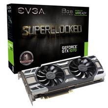 EVGA GTX 1070 SC GAMING ACX 3.0 8GB GDDR5 Black Edition Desktop Graphic Card